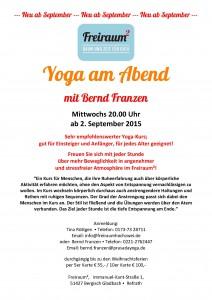 20:00 h Yoga mit Bernd Franzen